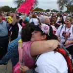 My Wife and mother-in-law embracing after my wife finished her 60 mile walk for breast cancer in Dallas, Texas! The joy of goals accomplished!