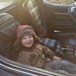 My son loves going for rides in my old Corvette.