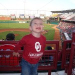 My son at an OU v. OSU baseball game last year.